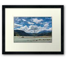 Fishing the mouth of Gun Creek on Carpenter Lake Framed Print