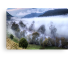 Mist On The Waters- Jingellic NSW/Walwa Victoria - The HDR Experience Canvas Print