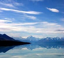 Lake Pukaki and Mount Cook NZ by jwwallace