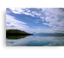 Lake Pukaki scenic landscape Canvas Print