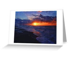 Sunrise Over The Atlantic Ocean Greeting Card