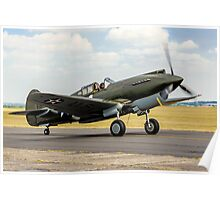 Curtiss P-40B 41-13297 G-CDWH Taxying Poster