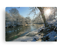 A Frozen River Kent Canvas Print