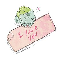 Bulbasaur Valentines Card by Samantha Royle