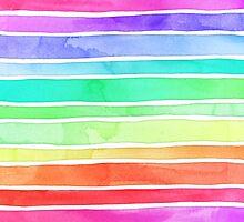 Ever So Bright Rainbow Stripes by micklyn