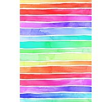 Ever So Bright Rainbow Stripes Photographic Print