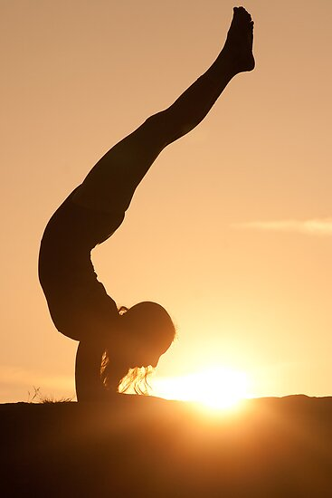 Yoga Poses at Sunset 6 by JonWHowson