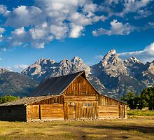 Moulton Barn and Teton Mountains by cavaroc