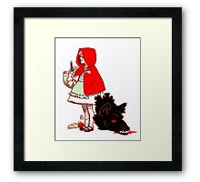 Little Red Hood Framed Print