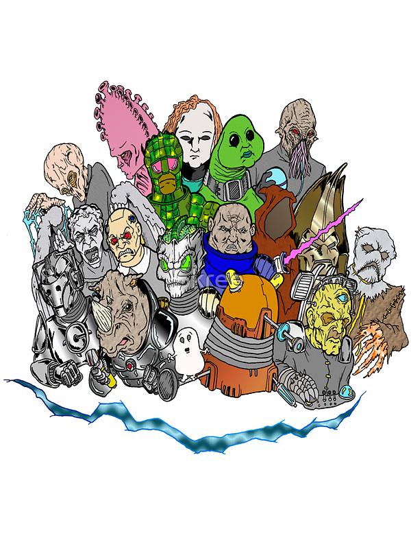 Doctor Who Enemies by Skree
