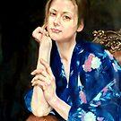 woman in yukata 2 by Hidemi Tada