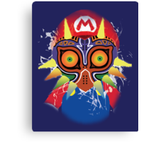 Mario wearing Majora's Mask Canvas Print