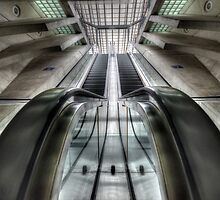 upclose and personal with an escalator by Nicole W.