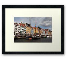 Nyhavn Harbour, Copenhagen. Framed Print