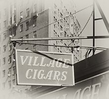 Old Village Cigar's sign in the West Village, New York City by Reinvention