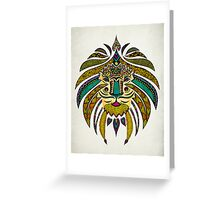 Emperor Tribal Lion Greeting Card