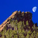 First Flatiron Moonset by Gregory J Summers