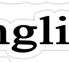 More English Please  Sticker