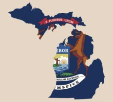 Michigan | Flag State | SteezeFactory.com by FreshThreadShop