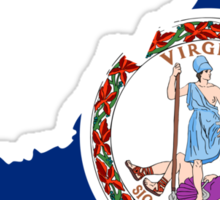 Virginia | Flag State | SteezeFactory.com Sticker