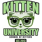Kitten University - Green by Adamzworld