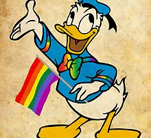 Donald Duck - Pride - Vintage - Pop Art by wcsmack