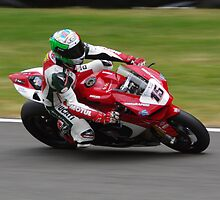 "#15 Matteo ""Baiox"" Baiocco - Rapido Sport Ducati 1199 Panigale - BSB 2013 Brands Hatch by motapics"