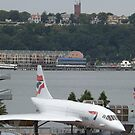 Vintage British Airways Concorde,  Intrepid Sea Air and Space Museum, New York City  by lenspiro