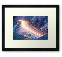 Boulder County Colorado Blazing Canyon View Framed Print