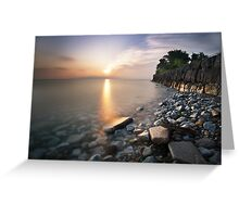 Sunrise over Lake Ontario Greeting Card