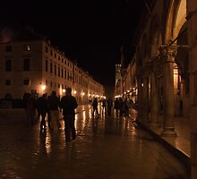 Dubrovnik at night. by MigBardsley