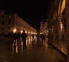 Dubrovnik at night. by MigBardsley