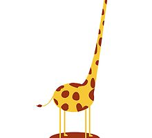 Funny giraffe who doesn't know where is her head ! by alish