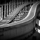Monorail in Monochrome by paintingsheep