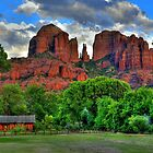 Red Rocks In Sedona Arizona- Closer Image by Diana Graves Photography