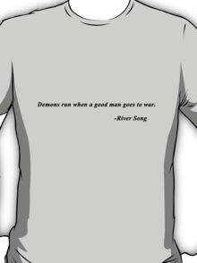 Quote #2 - Doctor Who - Black T-Shirt
