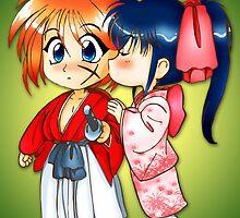 Samurai Kiss by chibicuty