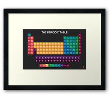 The Periodic Table of Elements Framed Print