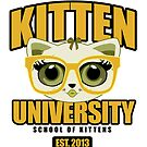 Kitten University - Yellow by Adamzworld