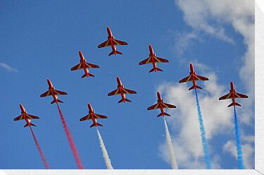 The Red Arrows 1/3 by Neville Hawkins