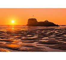 Perranporth Sunset Photographic Print