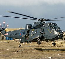 Westland Sea King HAS.5 ZA136/B-40 at RAF Stanley by Colin Smedley