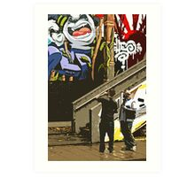 Urban art gallery Art Print