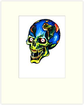 Skull Earth by BungleThreads