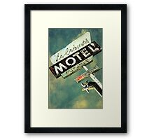 La Crescenta Vintage Motel Sign Framed Print