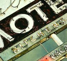 La Crescenta Vintage Motel Sign Sticker