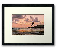 Lone Kite Surfer Framed Print