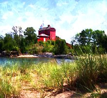Summer Lighthouse by perkinsdesigns