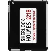 Sherlock Holmes Street Sign iPad Case/Skin