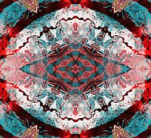 Aquatic Lace 5 by MSRowe Art and Design